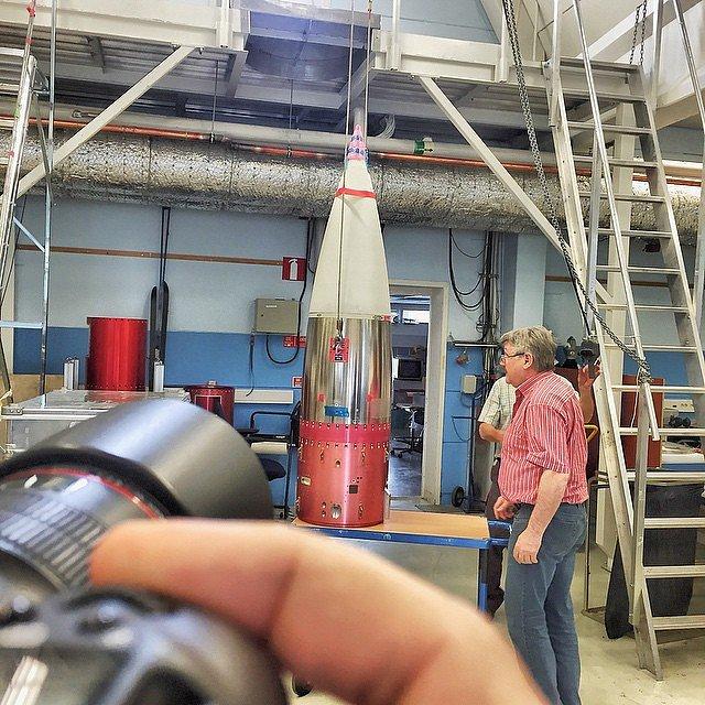 The tip of The rocket - assembling tomorrow #raisfoto #esrange #esrangespacecenter #space #rocket #science #lovemyjob