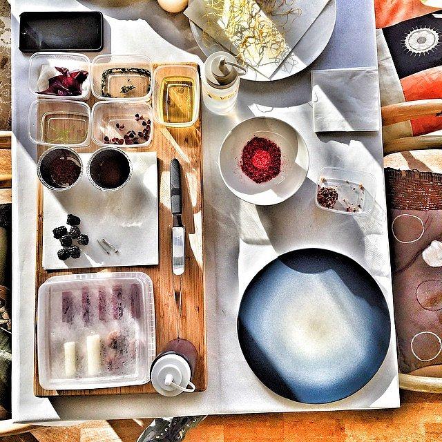 Starter dagen på @mallingkro hvor @mikkel_k_s tryller. #raisfoto #mallingkro #mad #food #foodphotography #foodie #lovemyjob #photoshoot #photographer