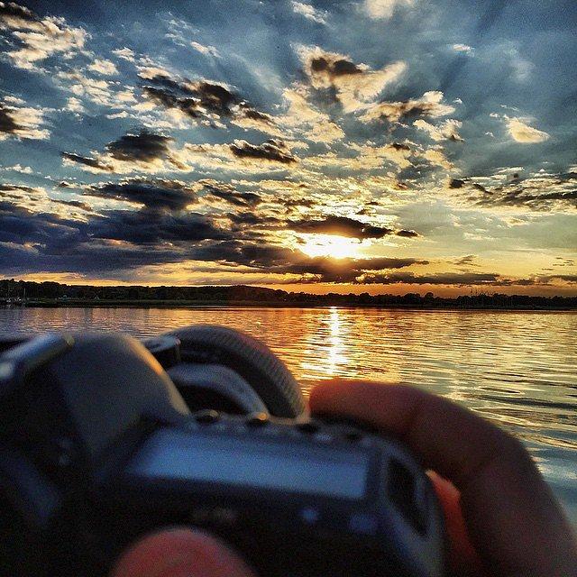 #lovemyjob #naturparkrandersfjord #nature #sunset #beautiful