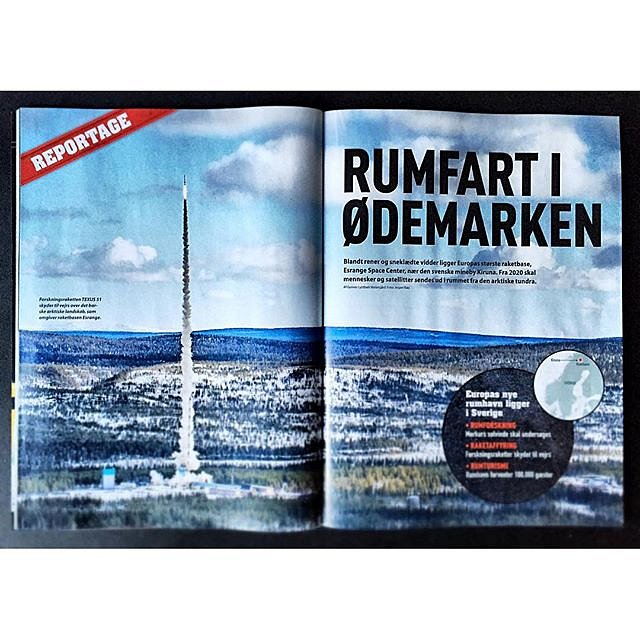 Proud to cover 10 pages in the newest issue of Science Illustrated with pictures from our trip to the Swedish Spacestation Esrange!  #raisfoto #esrange #kiruna #illustreretvidenskab #scienceillustrated #space #rocket #science #photographer #lovemyjob